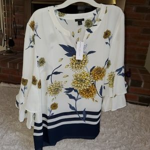 NWT Ann Taylor Factory Floral Blouse